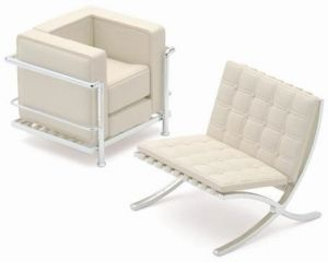 le corbusier chair barcelona chair by mies van der rohe. Black Bedroom Furniture Sets. Home Design Ideas