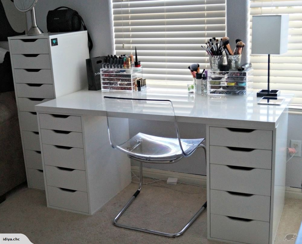 IKEA LINNMON WITH 2 ALEX DRAWERS,150CM,white in 2020