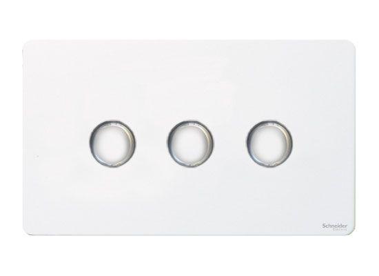Trailing Edge Mains LED Dimmer Light Switch 250W 2 Way Satin Matt Chrome Flat