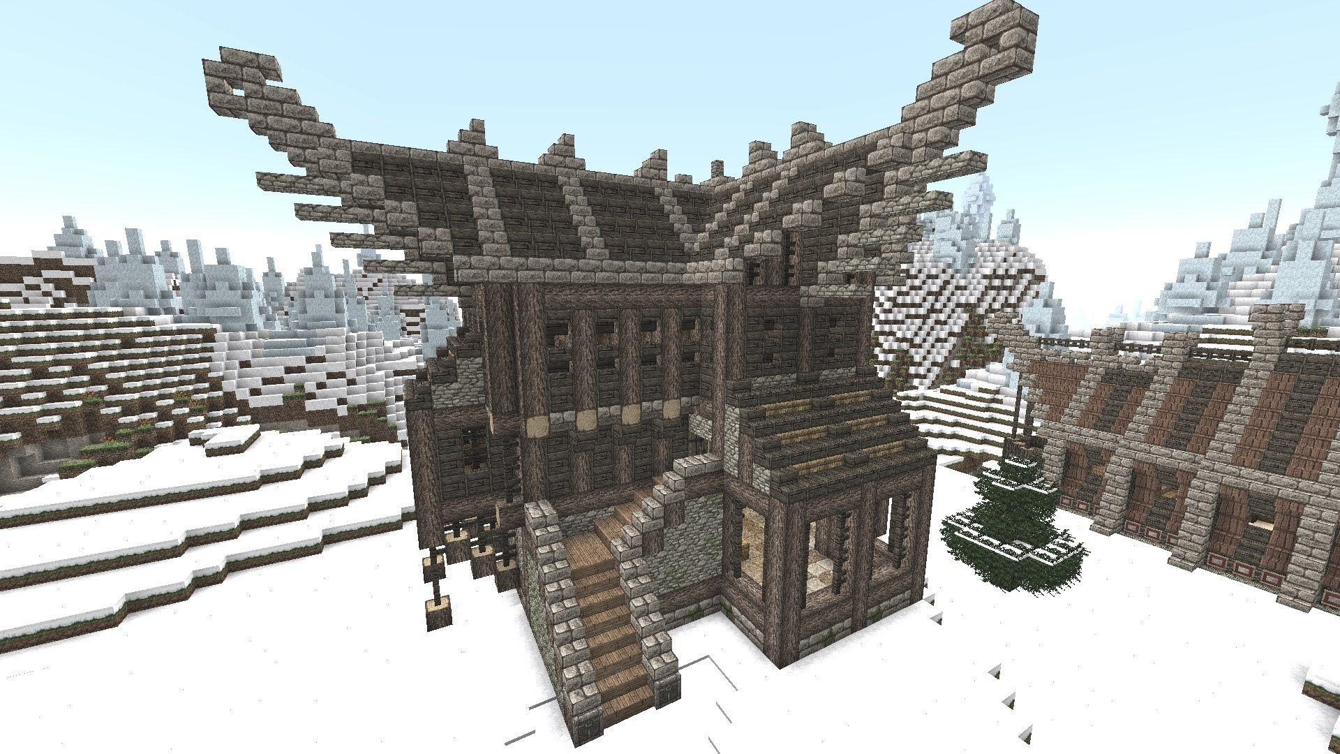 (Danish) Minecraft Tutorial 004 | Large Viking House