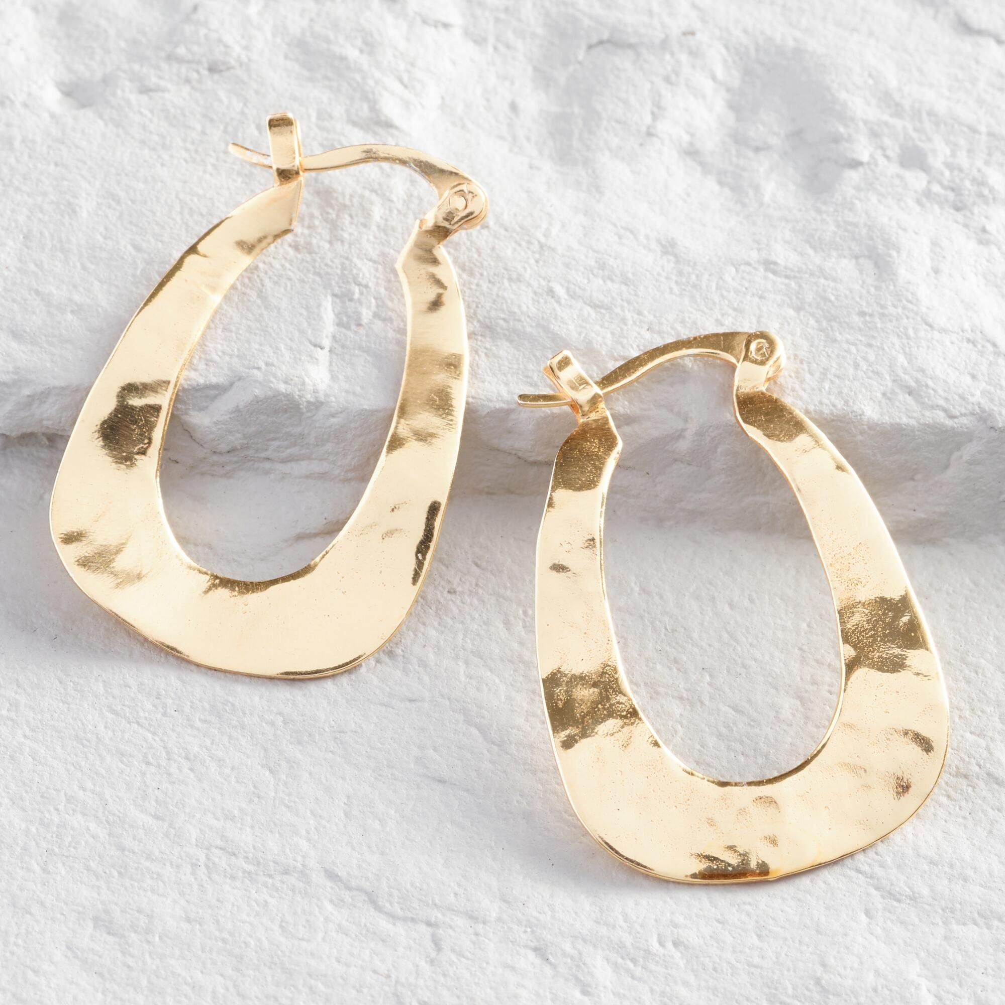 c8b2948b44df5d Small Gold Wave Hoop Earrings by World Market in 2019 | Products ...