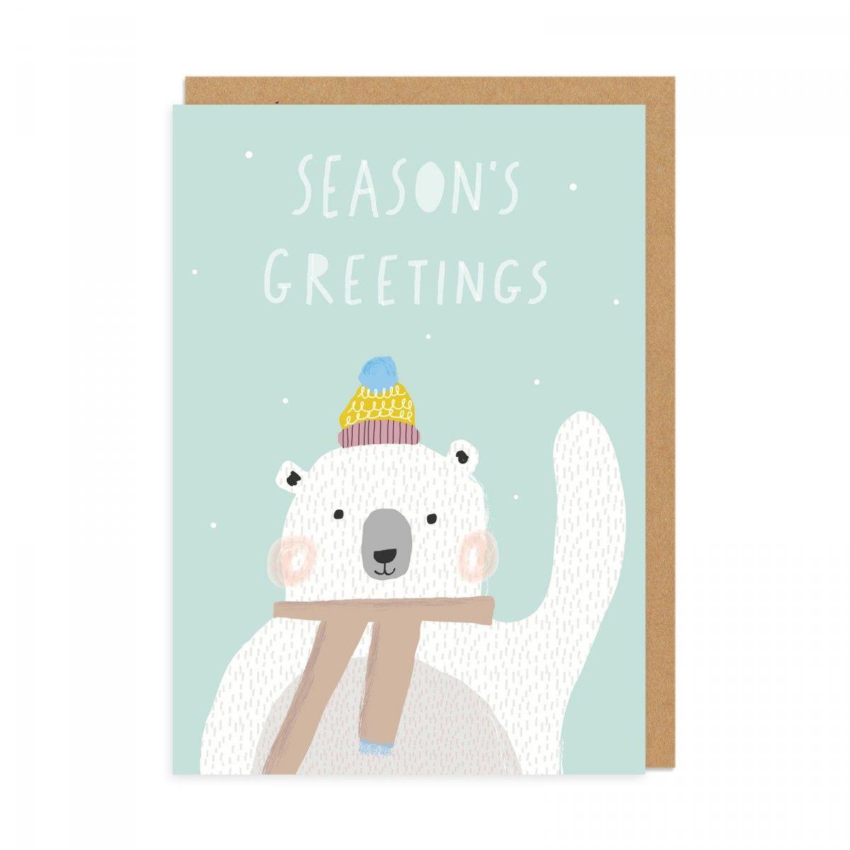 Seasons Greeting Bear Greeting Card Christmas Gifts Ohh Deer
