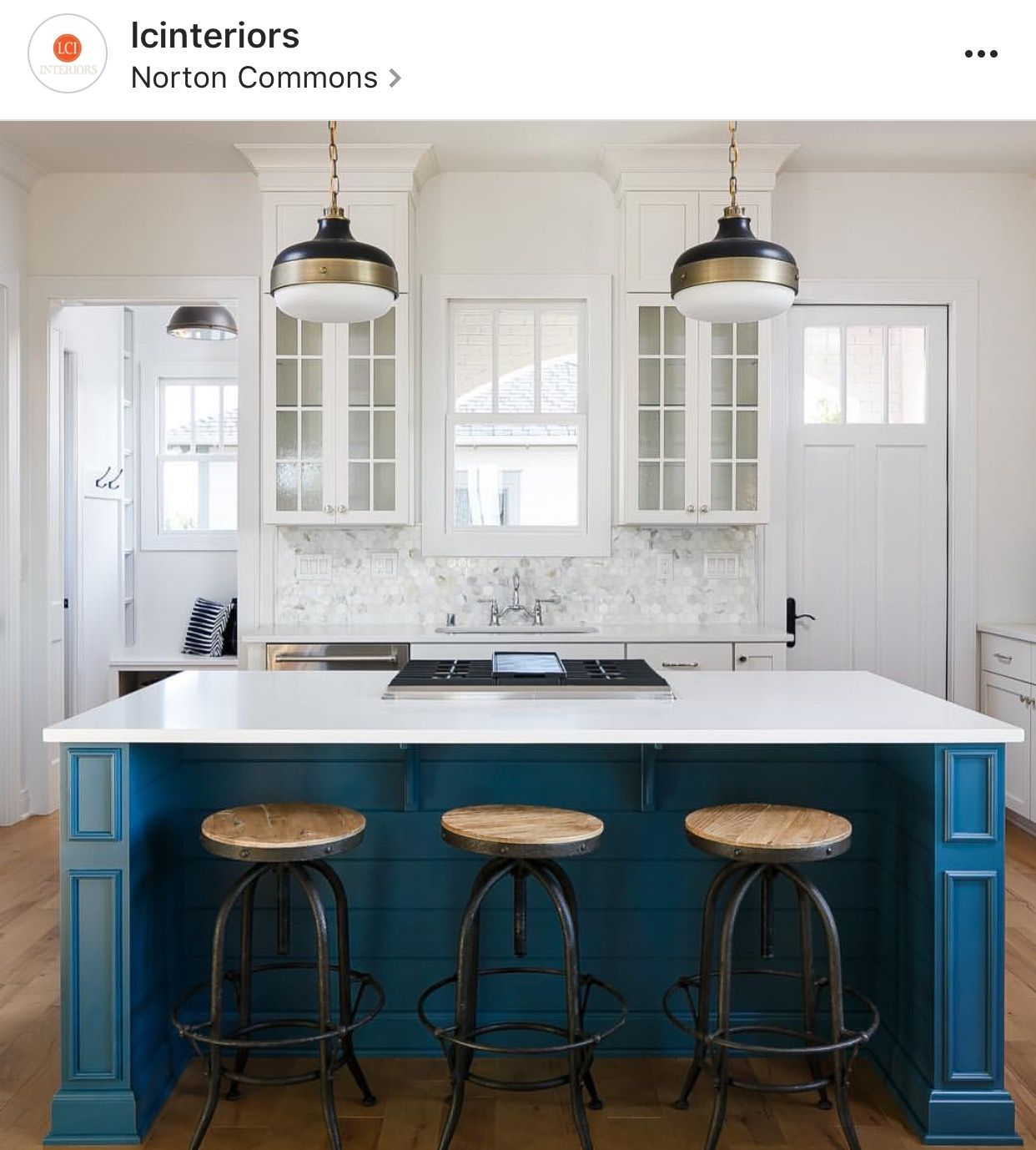 30 Beautiful And Inspiring Light Filled Kitchens With: Island Is SW Bunglehouse Blue