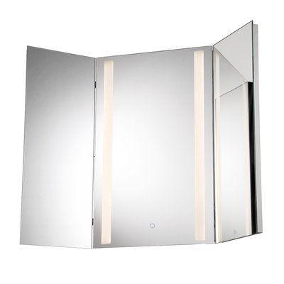 Orren Ellis Stoltenberg Tri Fold Led Lighted Bathroom Vanity