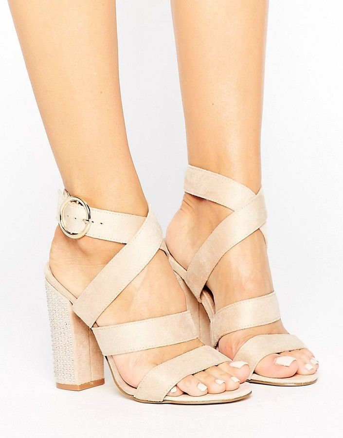 41ea97c8b Truffle Collection Strappy Block Heel Sandal (affiliate) | Cream + ...