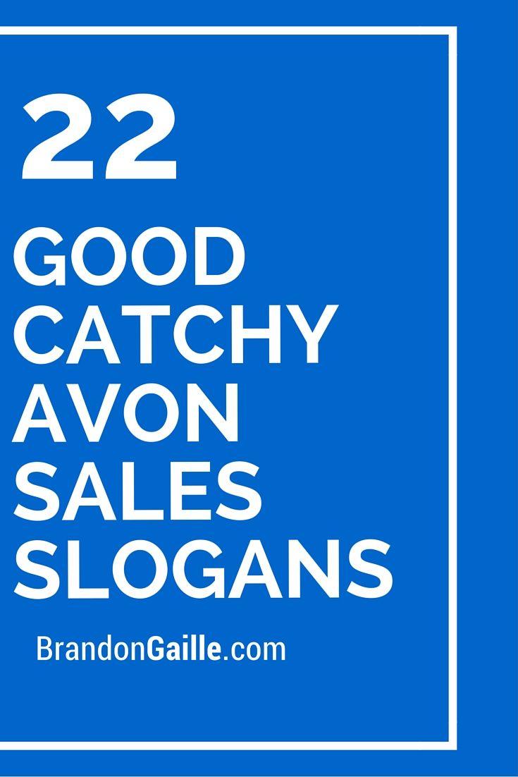 23 Good Catchy Avon Sales Slogans | Avon sales and Avon