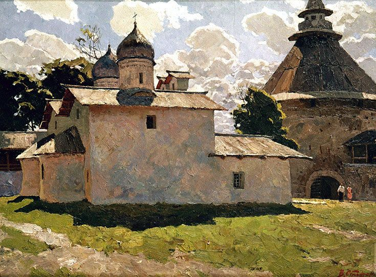 Vladimir Fedorovich Stozharov (1926 -1973). Church of the Intercession and Povroskaya Tower.