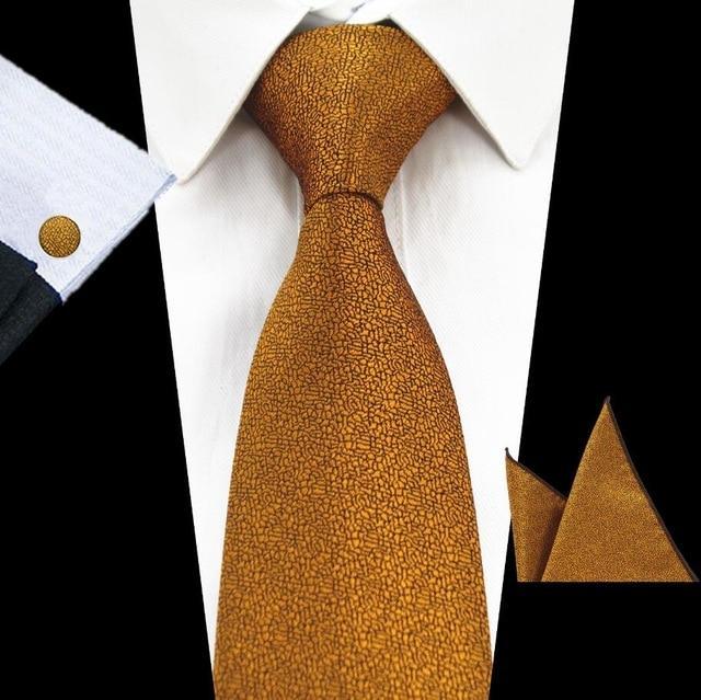 Mens Tie Set Blue Pink Checks Silk Woven Necktie Hanky Cufflinks Wedding Formal