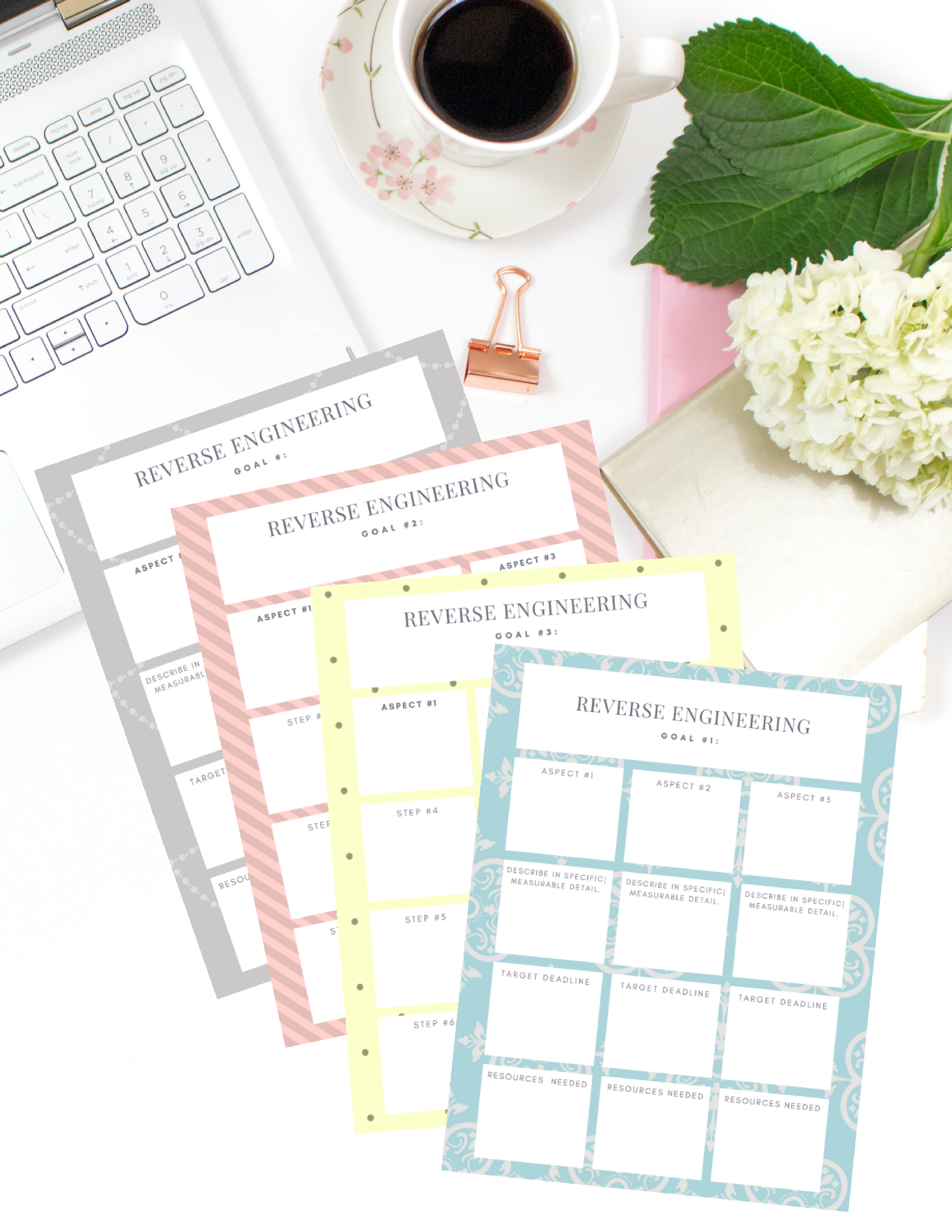 Reverse Engineering Goal Worksheet Free Printable Download