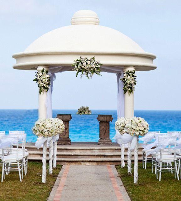 Luxurious Wedding Ceremonies Cancun Luxury Beach Ceremony Set Up