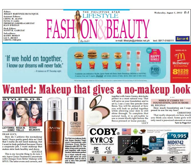Anew Genics in The Philippine Star, Aug 1, 2012  Lucy Torres-Gomez