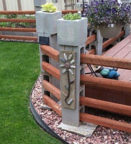 Recinzioni Per Giardino In Cemento.Mattoni Di Cemento 4 Recinzioni Da Giardino Giardino Con