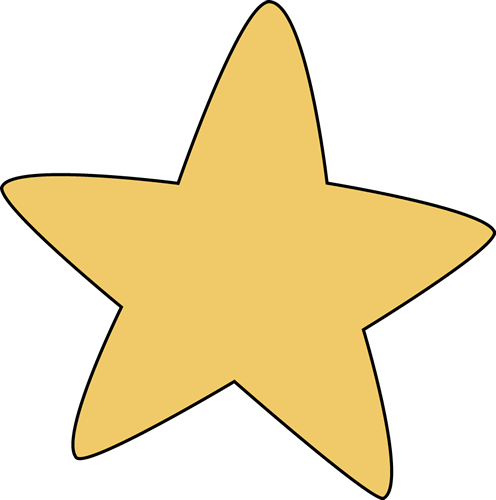 Yellow Rounded Star Star Images Clip Art Star Clipart