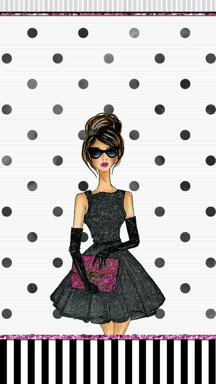 Fashion girl wallpaper iphone   Cute walls by me♡   Black wallpaper, Iphone wallpaper fashion ...