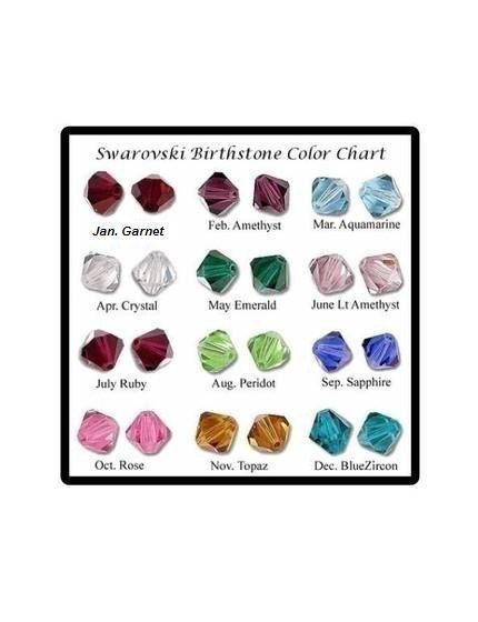 Add On Birthstone Color Crystal Bead for Necklace  Jewelry Bracelet Personalized your Gift FREE SHIPPING