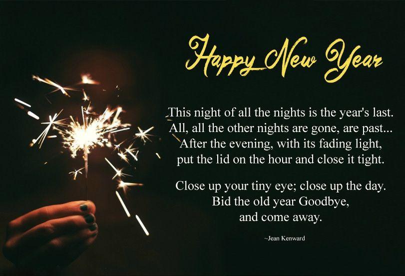 Happy New Year 2019 Poems Happy new year poem, New year