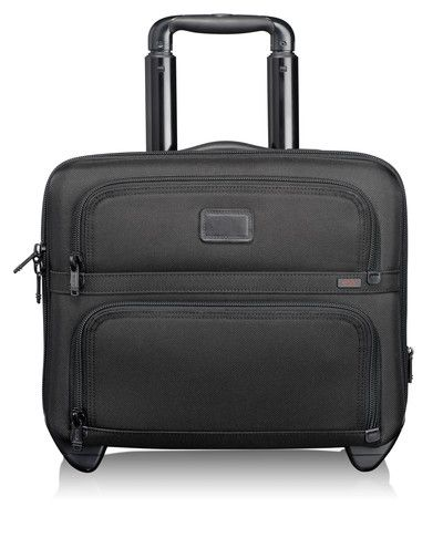 Tumi Alpha Compact Wheeled Brief Black - Tumi Wheeled Business Cases
