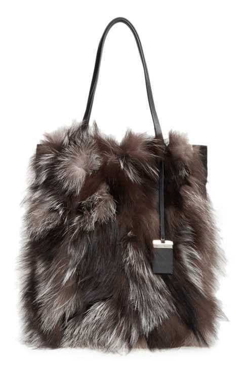 23d6a5026b58 Michael Kors Large Eleanor Genuine Fox Fur Tote   Bag Lady   Fox fur ...