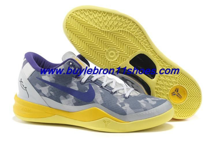 2013 Nike Zoom Kobe VIII System Year of the Snake Grey Volt-Pure Platinum For Wholesale