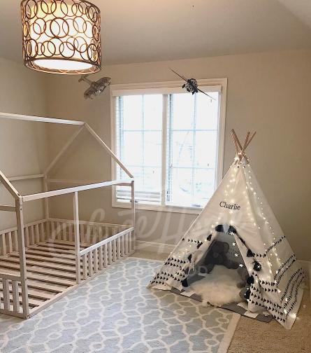 Scandinavian design Baby room interior baby bed or