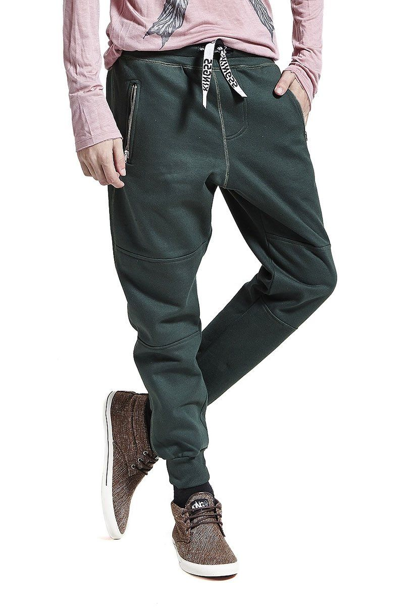 Calça de Moletom Jogging Masculina Verde - Compre já - KING55 Loja de roupas 12591c6215e