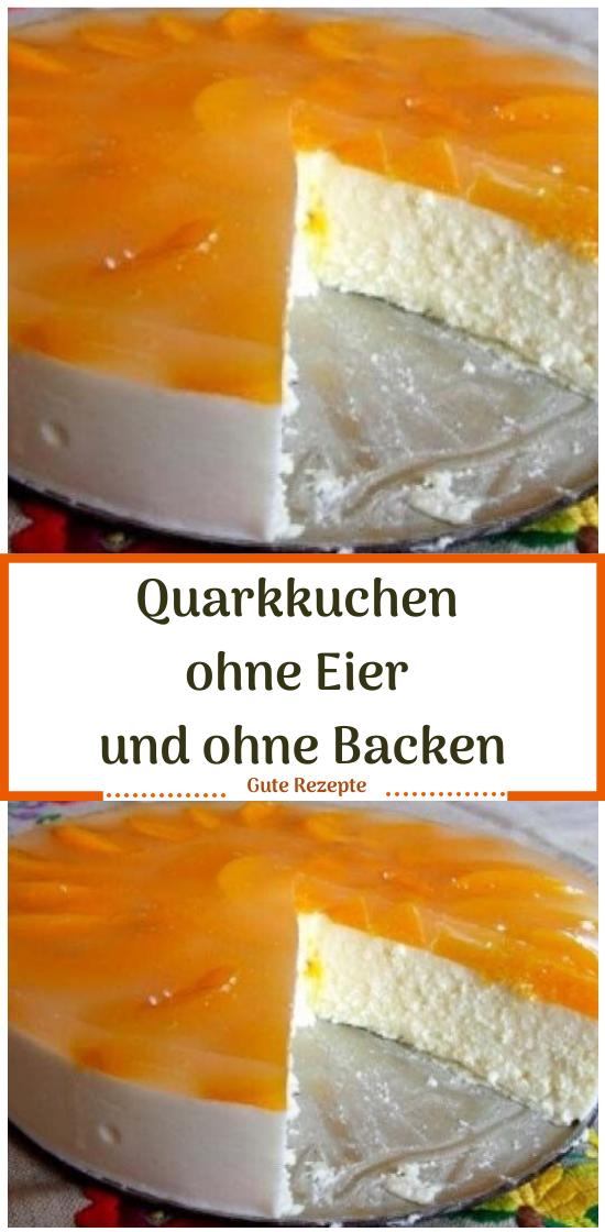 Quarkkuchen ohne Eier und ohne Backen