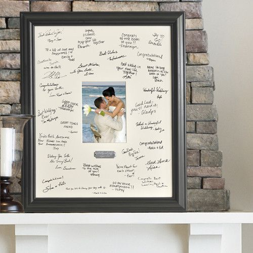 Personalized Wedding Guest Signature Frame Wedding Guest Signatures Wedding Frames Signature Picture Frame