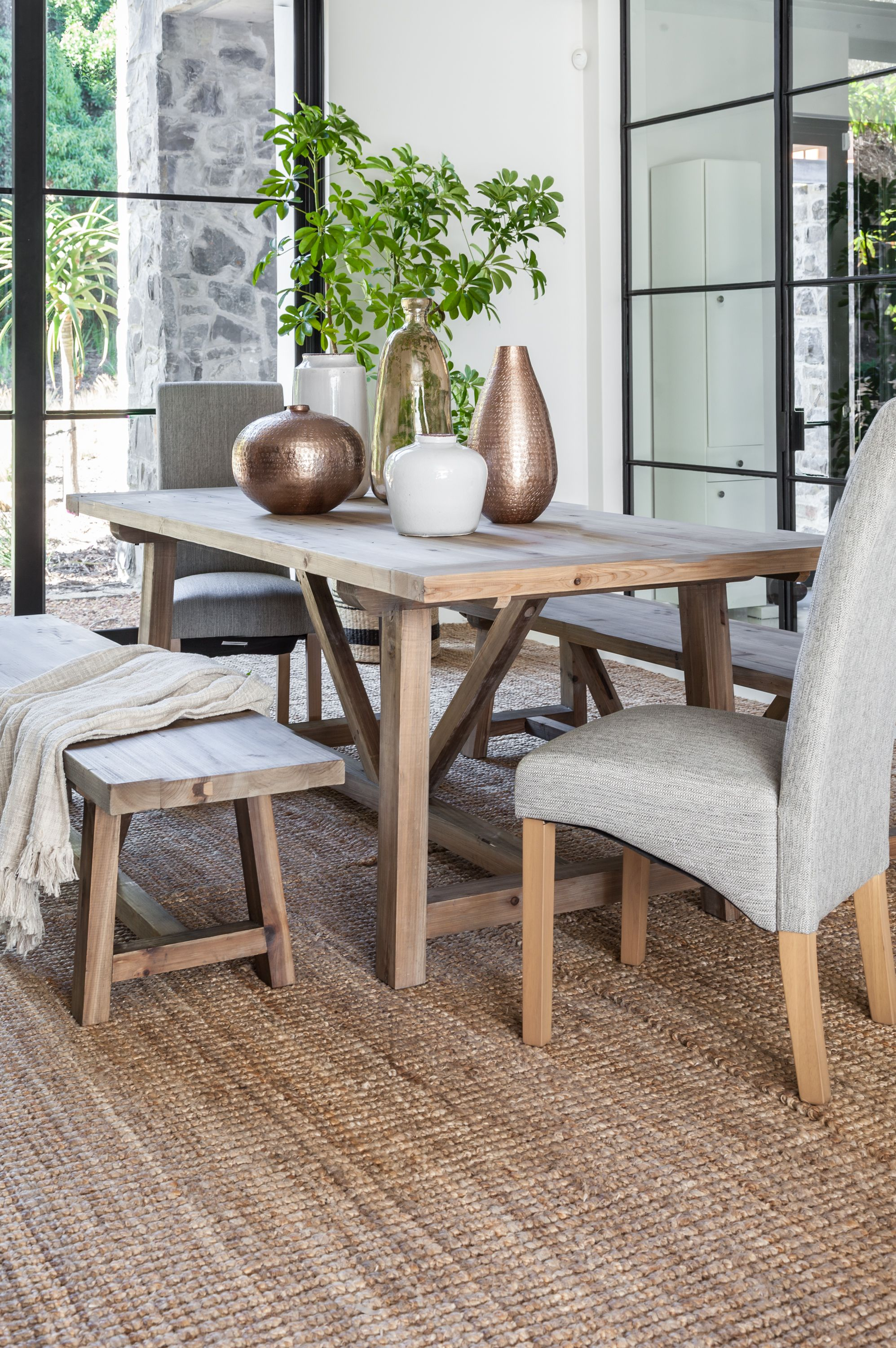 The Lightwood Thomas Dining Table Has An Earthy Look And Feel And