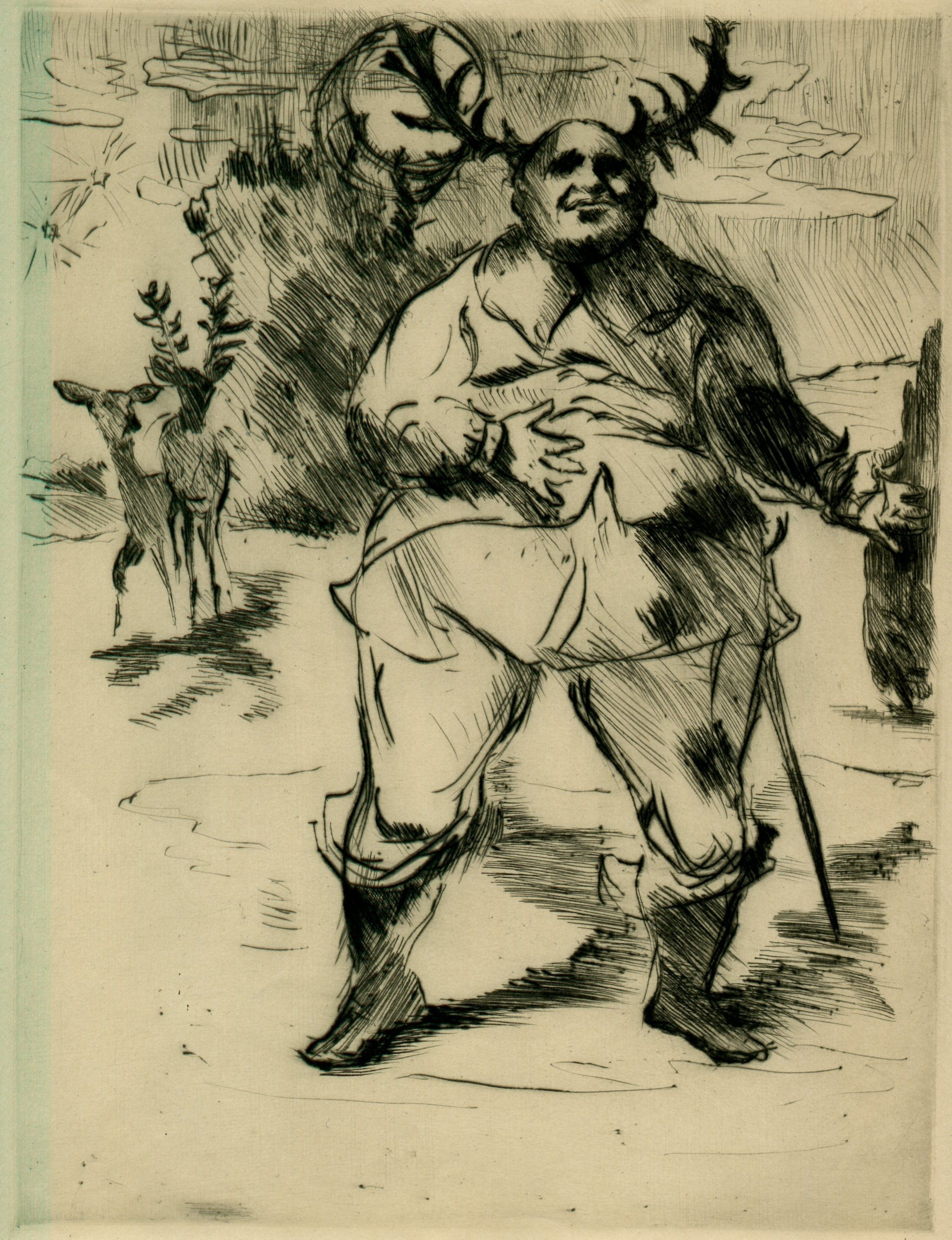 Lovis Corinth - Falstaff, c. 1917.
