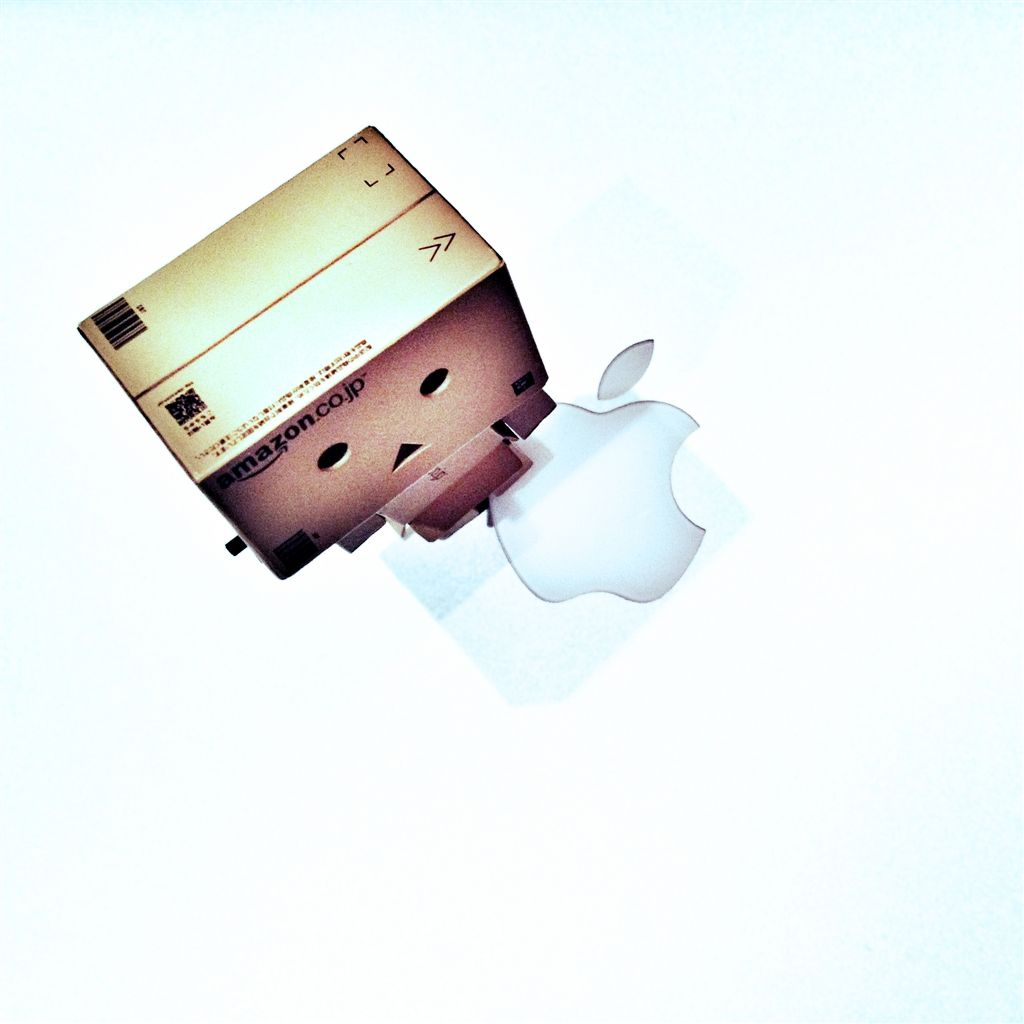 Danbo and Apple iPad 4 Wallpaper