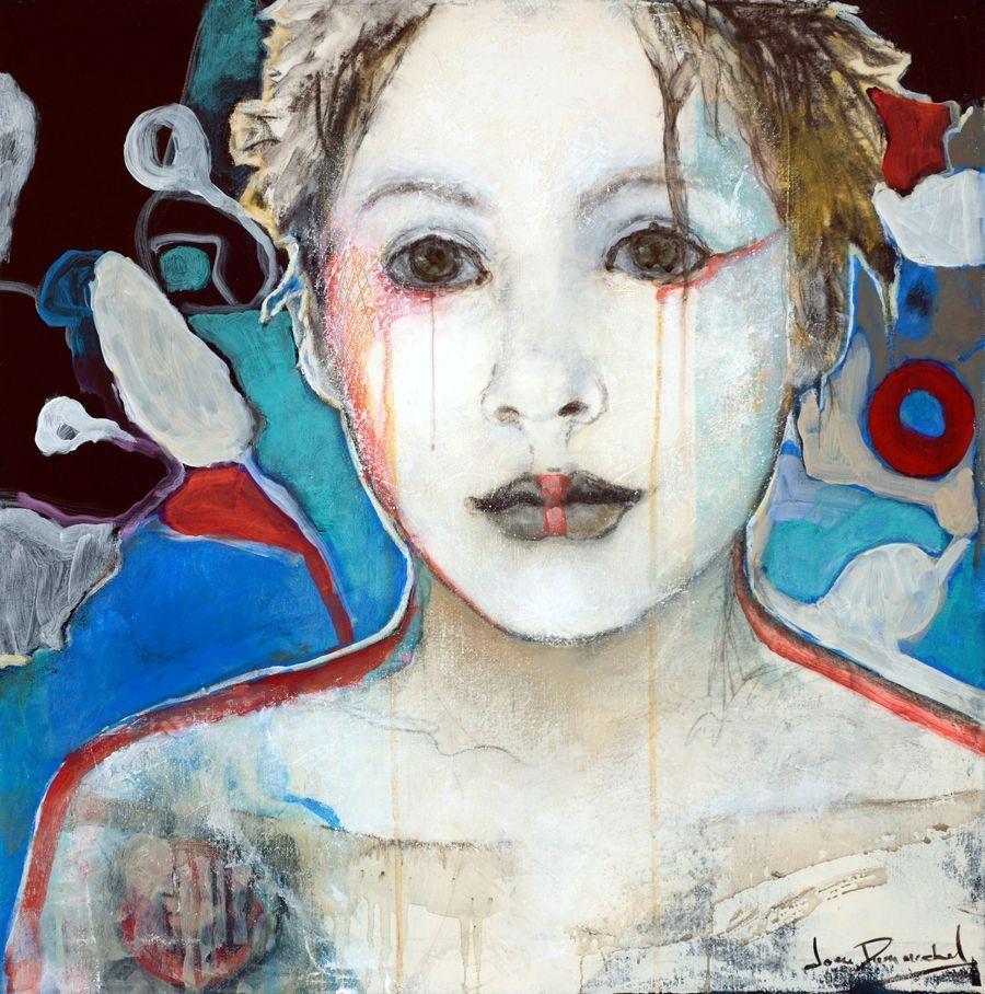 Dumouchel Ideas full head 2015 Mixed on canvas 24 x 24, #canvas #Dumouchel #full #ideas #Mixed