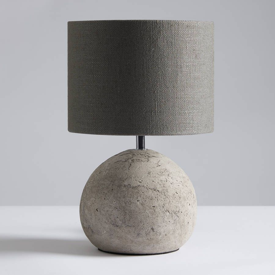 Louella concrete table lamp and shade concrete table concrete louella concrete table lamp and shade geotapseo Choice Image