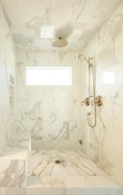 Calacatta Gold Honed 18x18 Marble Shower Walls Calcutta Gold Marble Bathroom Cultured Marble Shower Walls