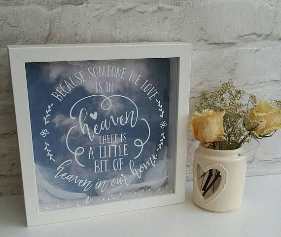Because someone we love is in heaven this Christmas Vinyl Sticker for box frame