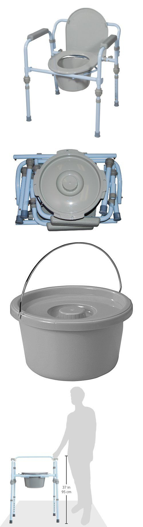Toilet Frames and Commodes: Adult Potty Chair Bedside Commode ...