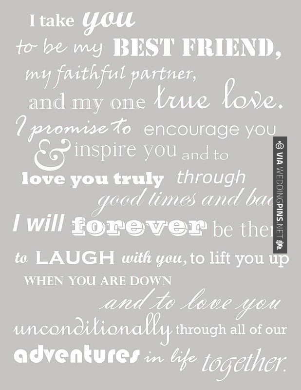 Touching Wedding Vows Country Wedding Decorations Wedding Quotes
