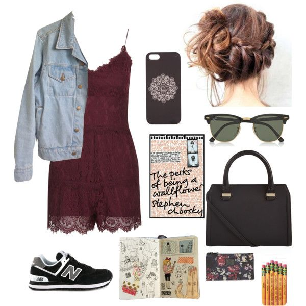 Untitled #5 by geraldine-geandme on Polyvore featuring polyvore, fashion, style, American Apparel, Topshop, New Balance, Victoria Beckham, Ray-Ban, With Love From CA, Accessory Collective and Billabong