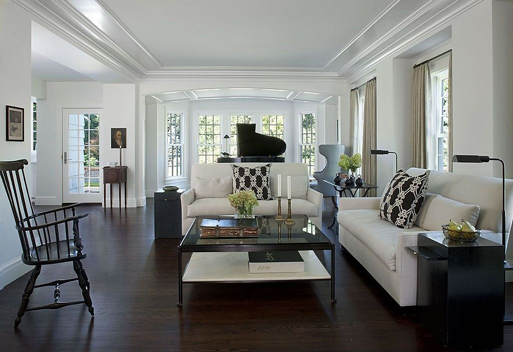 Astonishing Grand Piano Decorating Ideas For Engaging Living Room  Contemporary Design Ideas With Baseboards Black And White Candlesticks  Coffee Table Crown ... Part 20