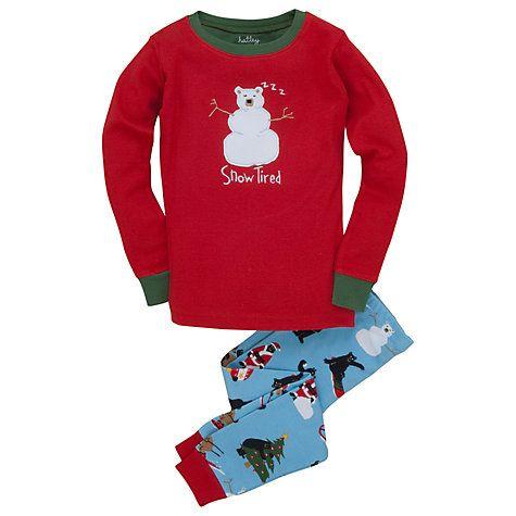 Hatley Little Girls  Pajama Set-Skiing Dog Best In Snow