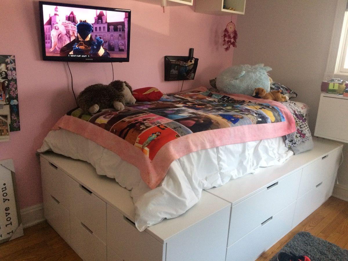 Nordli 10 Drawer Platform Bed Ikea Bed Ikea Hacks Bedroom
