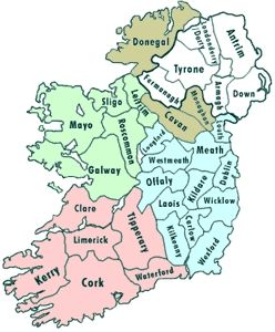 Map Of Ireland 26 Counties.A Humourous Guide To The 26 Counties Of Roi May Find Offensive If