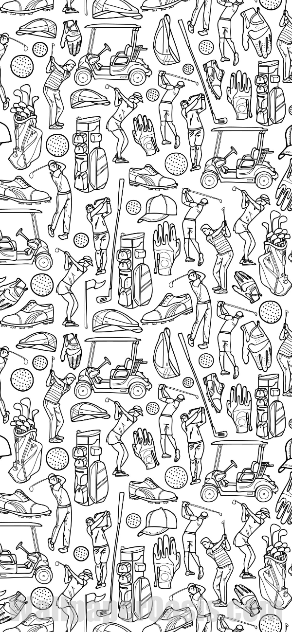 Free Golf Doodle Iphone Wallpaper This Design Is Available For Iphone 5 Through Iphone X Get This Background Fo Iphone Wallpaper Doodles Art Wallpaper Iphone