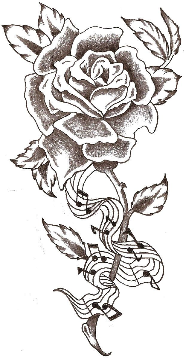Music Tattoo Rose Music Notes By Thelob On Deviantart Tattoos
