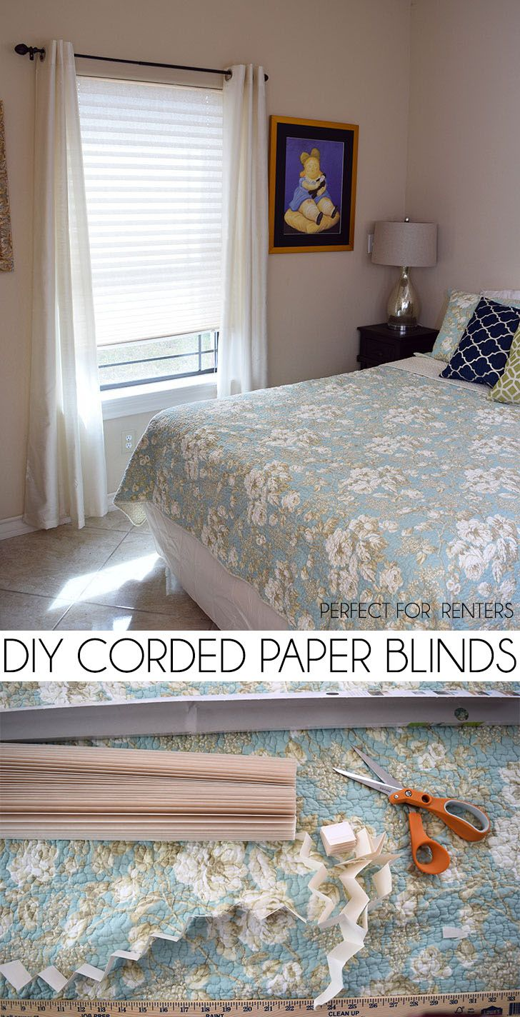 DIY Corded Paper Blinds Cheap Window Covering! Paper