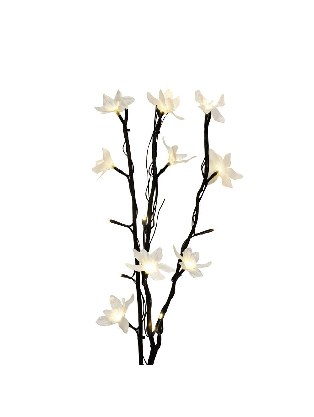 Battery Operated Branches White Flowers And Led Bulbs Spring