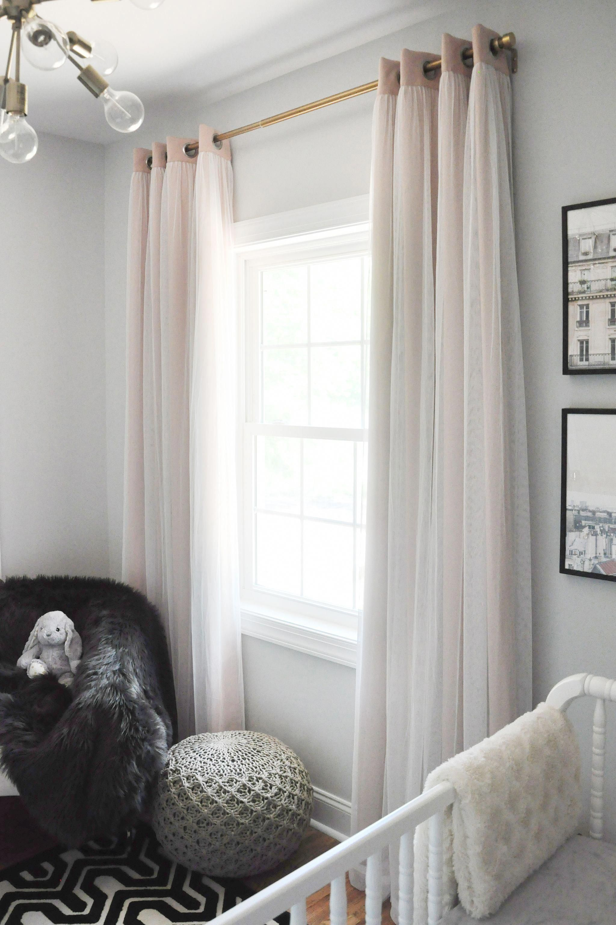 Blush Blackout Curtains In Glam Nursery Project Nursery Roomdarkeningideas Blackoutcurt Blush Blackout Curtains Girls Bedroom Curtains Nursery Curtains Girl