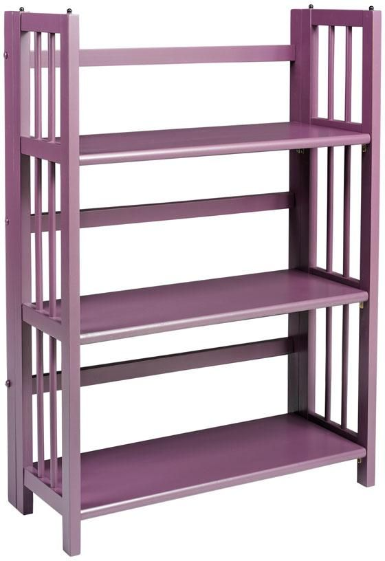 Purple Folding Stacking Bookcase Bookcases Home Office Furniture Homedecorators