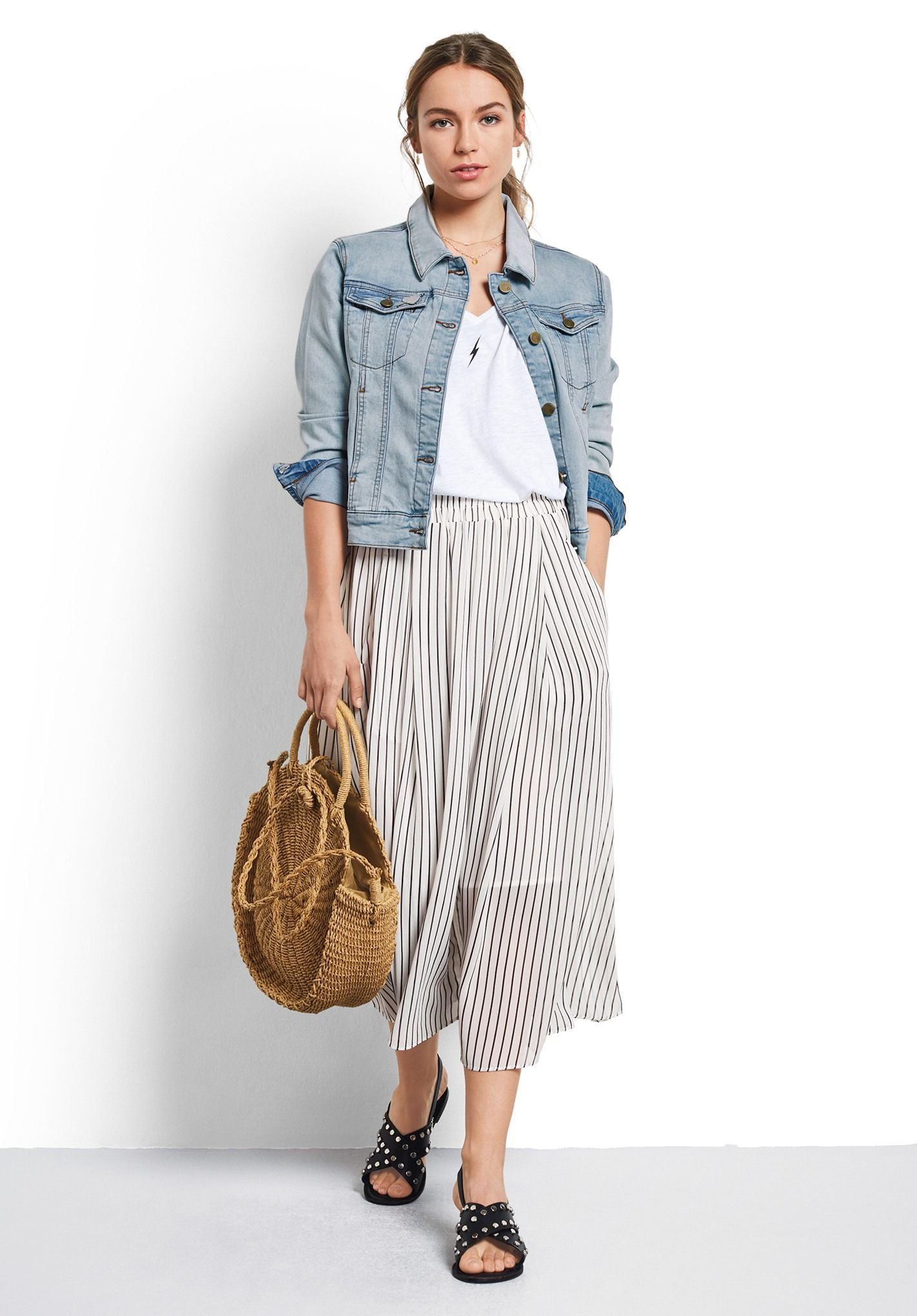 0efed3c80 Buy Marina Striped Skirt from Hush: Our perfect all season skirt comes in a  stripe print for summer. The outer of the skirt is chiffon in style, ...