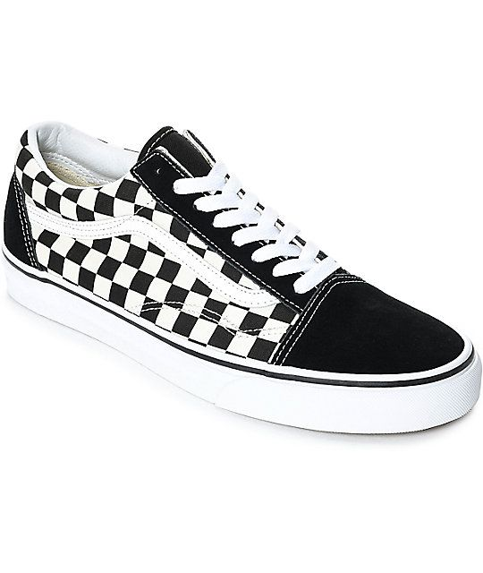 Vans Old Skool Black White Checkered Skate Shoes Zumiez Checkered Shoes Leather Shoes Woman Casual Shoes Women