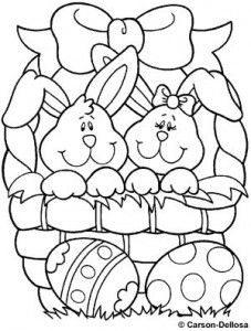 easter bunny coloring page 2 - Bunny Coloring 2